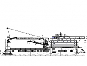 123m (500 men) Accommodation / Work Barge