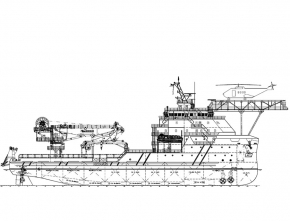 85m Diesel-Electrical Driven Subsea Support / Maintenance Vessel